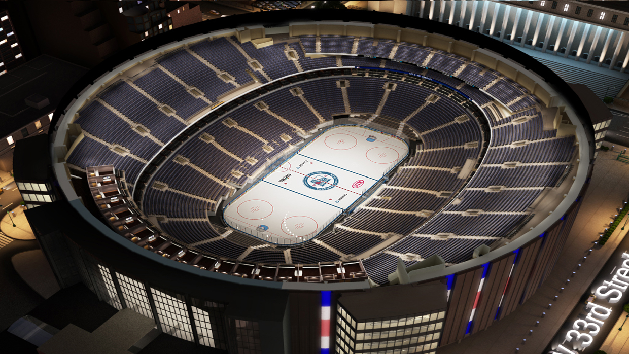 new york rangers virtual venue by iomedia - Madison Square Garden Seating Chart